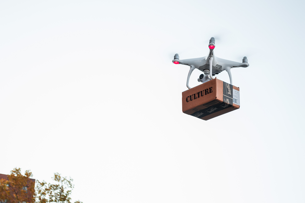 Drone Delivery 1, Inkjet print, 20 x 24 inches, 2016