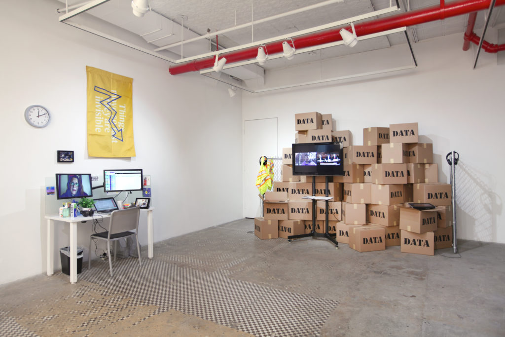 Brett Wallace, Working Conditions, 2019, installation view, NURTUREart, New York. Photo: David Riley. Courtesy of the artist and Silas Von Morisse gallery.