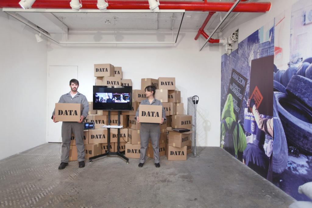 Brett Wallace, Working Conditions, 2019, installation view, NURTUREart, New York. Photo: David Riley. Courtesy of the artist and Silas Von Morisse gallery.