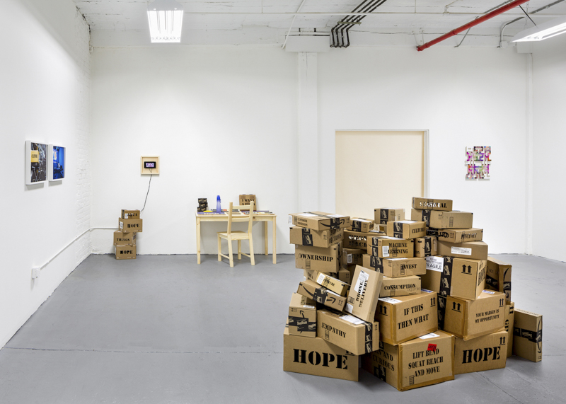 Brett Wallace, If This, Then What, 2016, installation view, Silas Von Morisse Gallery, New York. Photo: Christopher Knight. Courtesy of the artist and Silas Von Morisse gallery.