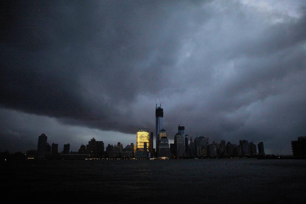Lower Manhattan in New York City on Oct. 30, 2012, after Hurricane Sandy. Eduardo Munoz/Reuters
